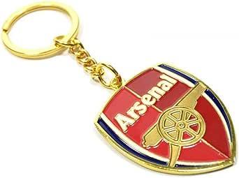 Arsenal Fc Offizieller Fußball Schlüsselanhänger Mit Clubwappen Einheitsgröße Rot Goldfarben Bekleidung