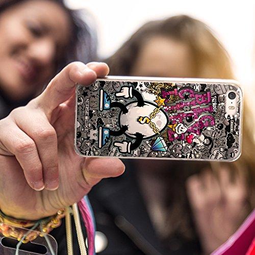 CASEiLIKE Roses et Plumes Beige Vintage 2251 Housse Étui UltraSlim Bumper et Back for Apple iPhone SE +Protecteur d'écran+Stylets cristal (couleur aléatoire) 2704