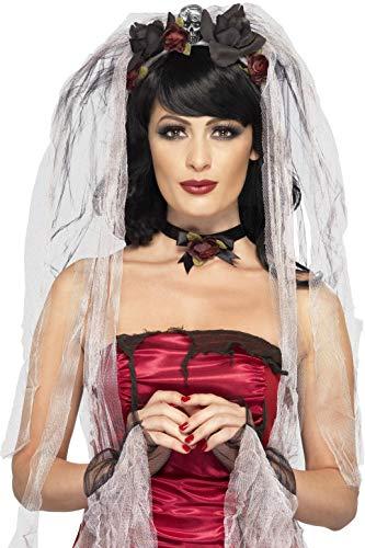 Gothic Braut Kostüm - Smiffy's 23343 Gothic-Braut-Kostüm-Kit, Einheitsgröße