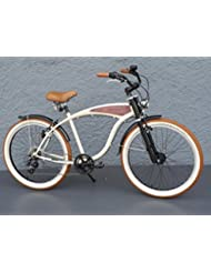 '26Beach Cruiser bicicleta 7velocidades Shimano dinamo de buje Schwalbe Beige Madera