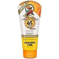 australian gold spf 45 premium coverage lotion viso, 88 ml