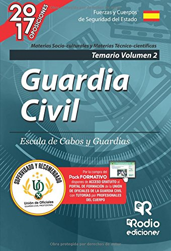 Guardia Civil. Escala de Cabos y Guardias. Temario Volumen 2. Edición 2017