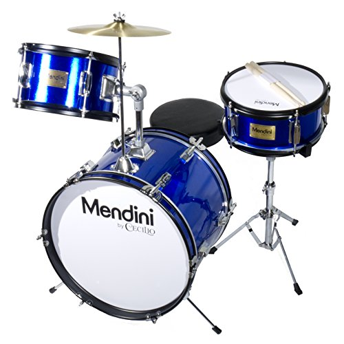 mendini-mjds-3-bl-junior-drum-set-blue