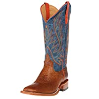 Horse Power by Anderson Bean Olathe HP1828 Havana Bullfrog Blue Jean Baby Square Toe Boots (10.5)