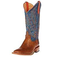 Horse Power by Anderson Bean Olathe HP1828 Havana Bullfrog Blue Jean Baby Square Toe Boots (10.5)