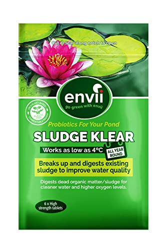 Envii Sludge Klear - Removes Pond Sludge and Unpleasant Odours Down To 4°C  - Treats Up To 30,000