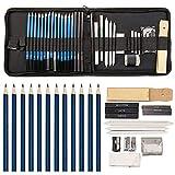 MeteorFlying 36 Stück Skizze Bleistift Set Bleistifte Skizzierstifte Set Bleistifte zum Zeichnen, Skizzieren für Künstler Anfänger Schüler Künstler