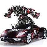 Ycco Trasformazione elettrica Robot Auto trasformatore Auto deformazione Piccolo Robot Veicolo Bambini Veicolo Giocattolo Mini deformazione collisione Modello 2.4GHz Drifting aggressivo/Acrobazie Ca