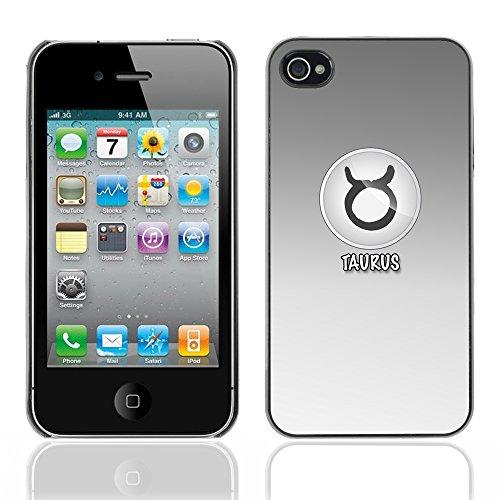 Graphic4You Virgo Jungfrau Horoskop Tierkreis Zeichen Design Harte Hülle Case Tasche Schutzhülle für Apple iPhone 4 und 4S Taurus