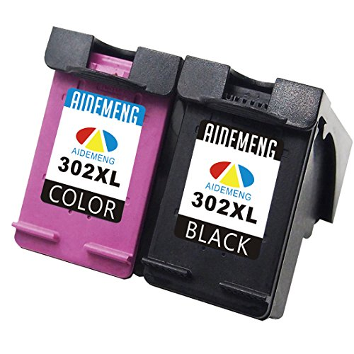 AideMeng Remanufacturado Reemplazo para HP 302 XL Cartuchos de Tinta (1 Negro, 1 Tricolor) Compatiable con HP DeskJet 1110 1115 2130 2132 3630 3632 3633 3635 HP OfficeJet 3830 3831 4654 HP Envy 4520
