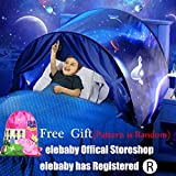 elebaby Kids Dream Bed Tent Space Adventure Boys Girls Pop up Play Tent Magical Playhouse Secreat Castle for Birthday Party GIFT