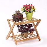 TZZ Lebensmittelregal Bambus-Blumenständer Schuhablage Sylish Bamboo Badezimmerregal Regal Appetit Küche Schlafzimmer Balkon Büro viele Pflanzenständer Schichten Halterung (größe : 2 Layers)