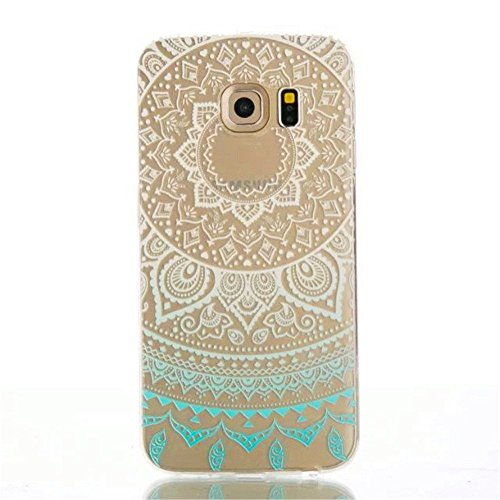 KSHOP Case Cover Ultra transparente Para Samsung Galaxy S7 Edge Carcasa Funda Suave Flexible Extremadamente Delgada piel Resistente a los Arañazos silicona TPU - Tribal Henna Mandala