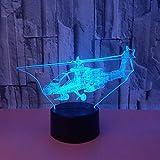 3D Illusion Light, Telecomando Per Bambini Regalo Aereo Luce Notturna 3D Luce Decorativa