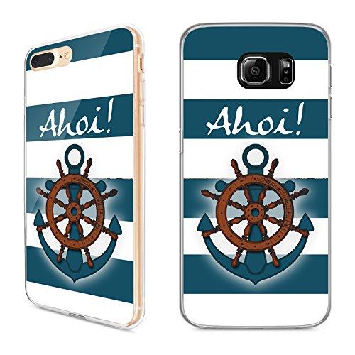 Handyhülle Ostsee für Apple iPhone Silikon Meer Anker Kompass Leuchtturm See, Kompatibel mit Handy:Apple iPhone 8, Hüllendesign:Design 1 | Silikon Klar