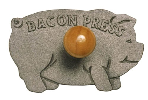Norpro Cast Iron Pig Shaped Schinkenspeck Grill Press Cast Iron Bacon Press