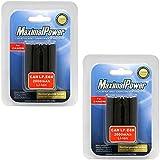 MaximalPower Batterie de remplacement pour Canon LP-E6/EOS 5D Mark II/5D Mark III/6D/7D/60D et appareil photo-Lot de 2