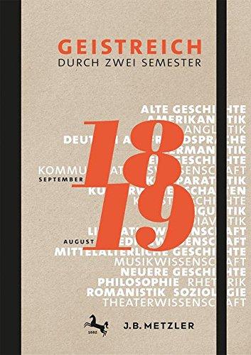 Geistreich durch zwei Semester: Semesterkalender 2018/19