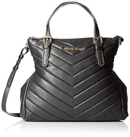 ARMANI JEANS Womens 9221586A718 Shoulder Handbag, Black, One Size