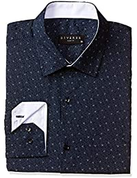 Diverse Men's All Over Printed Slim Fit Formal Shirt
