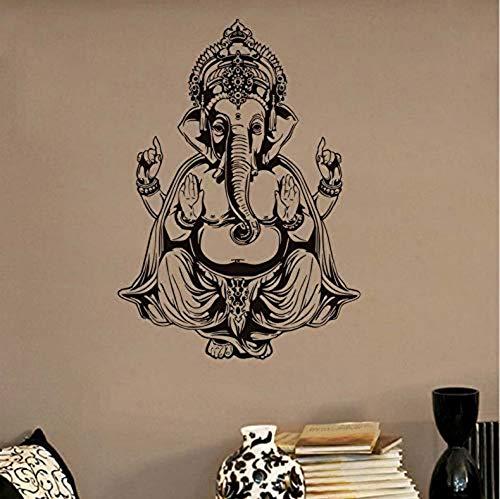 Pegatinas de pared Papel tapiz impermeable Ganesha Elefante Buda Mandala Yoga Pegatinas de pared Mural 58X82Cm