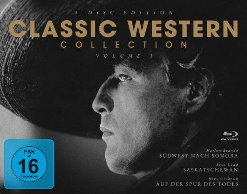 Classic Western Collection - Teil 1 Südwest nach Sonora / Saskatchewan / Auf der Spur des Todes [3Blu-ray] - Winter Classic Player