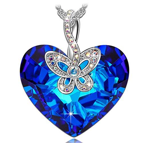 J.NINA Mariposa Amor Collar Mujer SWAROVSKI cristales Corazón Joyeria