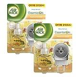 Air Wick Desodorisant Diffuseur Electrique Vanille & Orchidée - Lot de 2