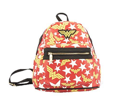 Ddong Estudiante Mochilas Infantiles Fashion Wonder Woman Impresión Rucksack Bolsas Escolares de Viaje Daypack Backpack para Niños