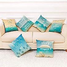 EDQZ Summer Cute Pillow Case Beach Square Throw Pillow Case Car Home Sofá De Cojín Decoración 5#
