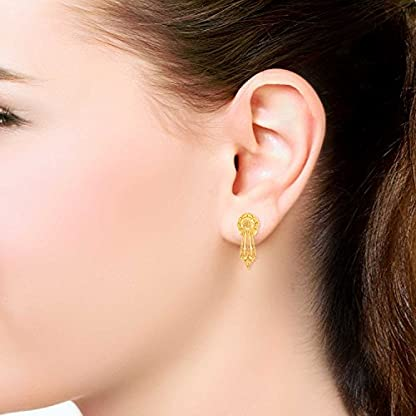 Malabar Gold & Diamonds 22KT Yellow Gold Stud Earrings for Women