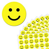 2.5cm Yellow Smiley Happy Face Stickers - Pack of 1200