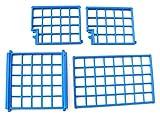 playmobil - 4 Stück Gitter blau Gitterbox Hafen Versand - Ersatzteile 4.5 x 4-5 x 8 cm