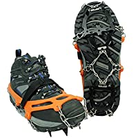 Tentock - Crampones de acero inoxidable, 12 teeth