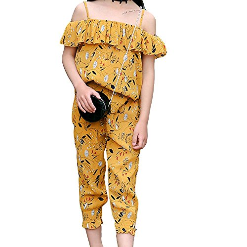 le Enfant Coton Enfant + Pantalon princesse Deux pièces , yellow , 150cm (Nice Girl Dress Up)
