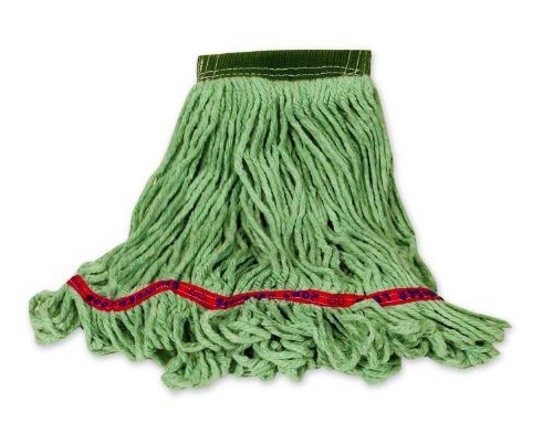 Rubbermaid Swinger Loop Wet Mop Kopf, Medium, grün, 1 (Loop-mop-kopf)