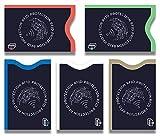 TÜV geprüfte RFID & NFC Schutzhülle (5 Stück) Blocker Kartenhüllen Schutz für Kreditkarten, EC Karten, Personalausweis, Kartenschutzhülle, Kreditkartenhülle RFID & NFC Schutzhüllen