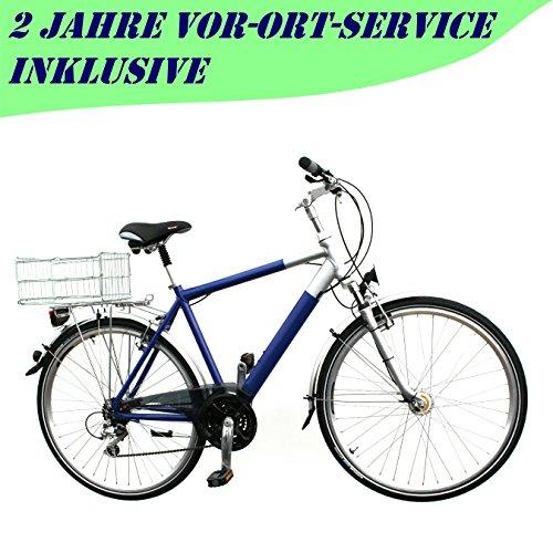 "28\"" Zoll Trekking 24-Gang Fahrrad Federgabel Herren RH 52 cm Nabendynamo blau"