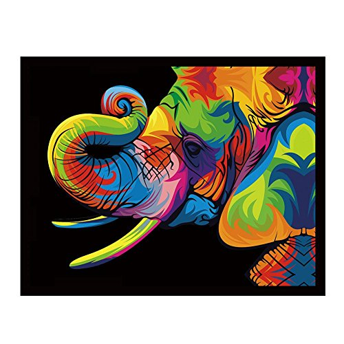 Broadroot 5D Elephant Head Diamond Embroidery Painting Cross Stitch Mosaic Home Decor