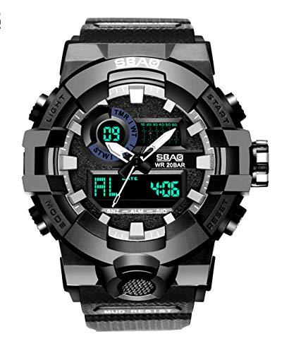 8549a056145f SBAO - Reloj para Hombre Impermeable Estudiante Relojes de Pulsera  Multifuncionales de Moda Lujo con Luz