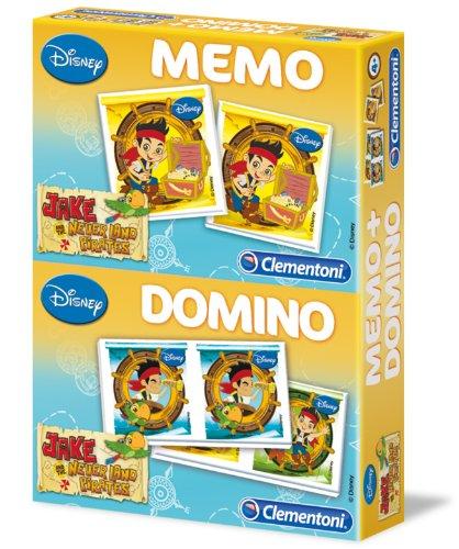 Preisvergleich Produktbild Clementoni 13787.9 - Memo - Domino 2 in 1 Jake und die Nimmerland Piraten