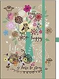 Premium Notes Big 'My happy life': Notizbuch mit hochwertiger Folienveredelung und Prägung