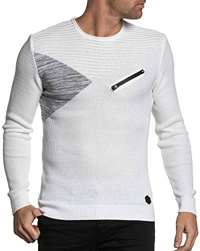 BLZ jeans - bllanc Trend Strickpullover Männer Weiß