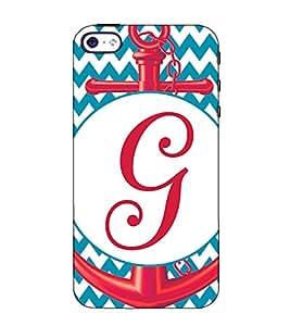 Fuson Designer Back Case Cover for Apple iPhone 5S (G alphabet theme)