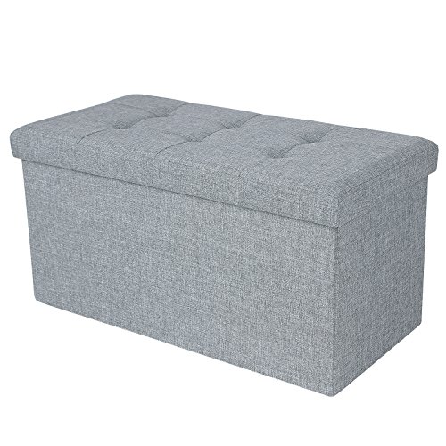 songmics-linen-fabric-folding-storage-ottoman-bench-versatile-space-saving-light-gray-76-x-38-x-38-c