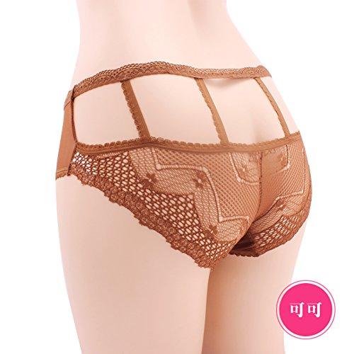 RRRRZ*Unterhosen Sinn weiblichen Transparente Spitze Versuchung Gaze. 3 Taille Hosen Ecke Gravur Temperament und ouvert hose und , , Code Kakao
