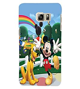 ColourCraft Lovely Cartoon Characters Design Back Case Cover for SAMSUNG GALAXY NOTE 5 EDGE