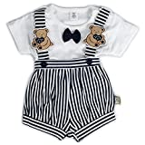 Toffyhouse Baby Boys Teddy Romper (Black...