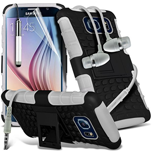 Étui pour HTC Desire 626 / HTC Desire 626 E5603, E5606, E5653 Titulaire de téléphone Case voiture universel Mont Cradle Tableau de bord et pare-brise pour iPhone yi -Tronixs Shock S7 + Earphone (White)