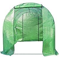 Relaxdays 10018956_354 - Invernadero Tunel, 2 puertas enrollables, acero galvanizado, 5 tamaños, ventanas